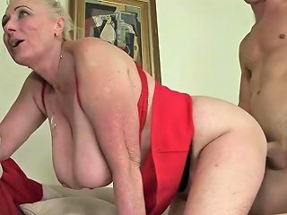 Busty Granny Begs To Bang A Young Stud And Get Her Pussy Licked Txxx Com